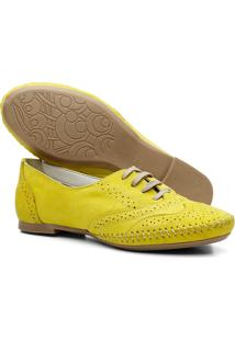 Sapato Oxford Mocassim Casual Amarelo - Kanui