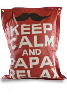 Puff Good Pufes Sacco Relax Retangular Vermelho