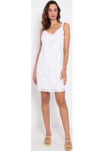 Vestido Em Renda- Branco- Malweemalwee