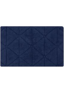 Tapete De Banheiro Barcelona- Azul Marinho- 80X50Cm