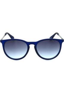 Óculos De Sol Otto Redondo Feminino - Feminino-Azul