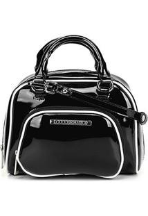 Bolsa Loucos & Santos Mini Bag Verniz Feminina - Feminino-Preto