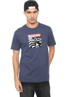 Camiseta Volcom Reload Azul-Marinho