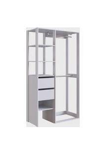Closet 2 Gavetas Db002 Branco Placa&Ponto