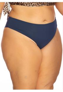 Biquini Plus Size Modelo Fio Duplo Azul