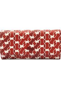 ... Carteira Lacoste Estampa Logo Vermelha Branca 0bd15e0d76
