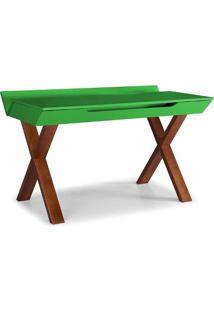Escrivaninha Stúdio 0741-0-302 Maxima Cacau/Verde Limão