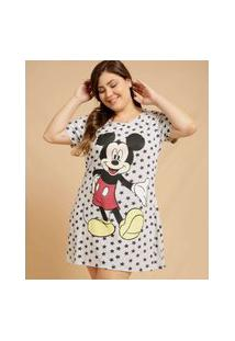 Camisola Plus Size Feminina Mickey Manga Curta Disney