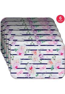 Jogo Americano Love Decor Wevans Orquideas Kit Com 6 Pã§S - Multicolorido - Dafiti