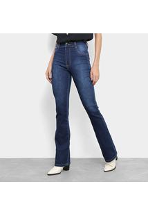 c30cb229c R$ 79,99. Zattini Calça Jeans Flare Sawary Cintura Alta Feminina - Feminino- Azul