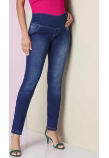 Calça Skinny Super Strech Azul