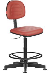 Cadeira Caixa Alta Secretária Giratória Courvin Vermelha