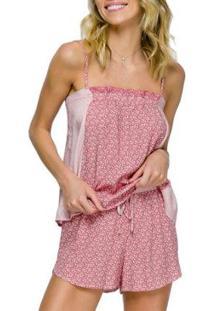 Conjunto Pijama Com Amor Feminino - Feminino-Vermelho