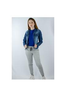 Jaqueta Jeans Escuro Seven Beach Feminina Azul