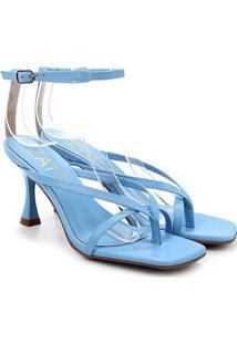 Sandália Zatz Salto Fino Feminina - Feminino-Azul