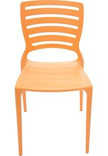 Cadeira Sofia Encosto Vazado Horizontal Laranja - Tramontina