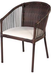 Cadeira De Alumínio P302 Honduras Marrom - Alegro Móveis