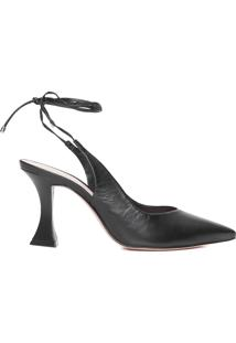 Scarpin Taça Lace Up - Preto