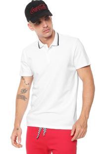 Camisa Polo Coca-Cola Jeans Lisa Branca