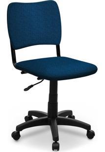 Cadeira Giratã³Ria Estofados Atena S/ Braã§O Azul - Azul - Dafiti