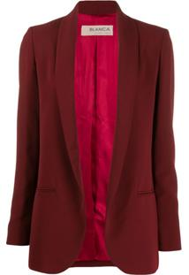 Blanca Vita Blazer Com Abertura Frontal - Vermelho