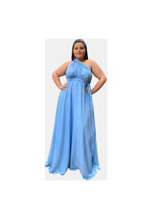 Vestido Madrinha De Casamento Multiformas Várias Amarrações Tnm Collection Azul Serenity