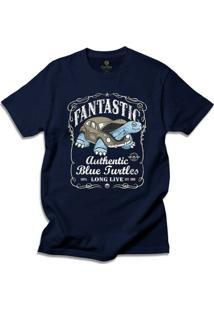 Camiseta Cool Tees Blue Turtles - Masculino-Azul