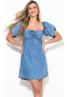Vestido Curto Jeans Azul