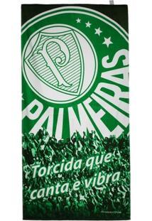 Toalha De Banho Palmeiras Bouton Veludo Torcida - Unissex