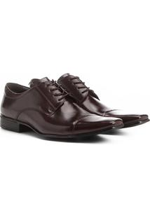 f0db8d7bda ... Sapato Social Couro Shoestock Bico Quadrado - Masculino-Café