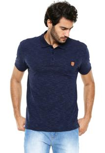 Camisa Polo Sommer Detalhe Azul