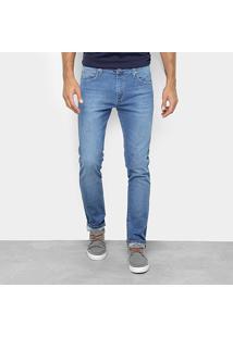 Calça Jeans Slim Colcci Felipe Estonada Masculina - Masculino-Azul