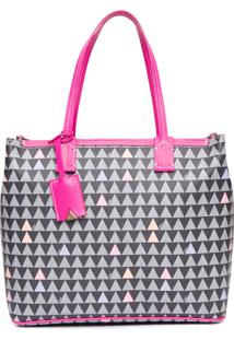 Bolsa Feminina Shopping Bag Nina Triangle - Preto