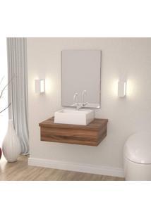 Conjunto Para Banheiro Gabinete Com Cuba Q32 600W Metrópole Compace Nogal