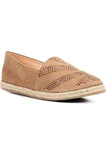 Sapatilha Couro Shoestock Hot Fix Feminina - Feminino-Caramelo