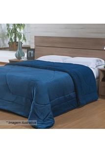 Edredom Capetown King Size- Azul Marinho- 240X260Cm