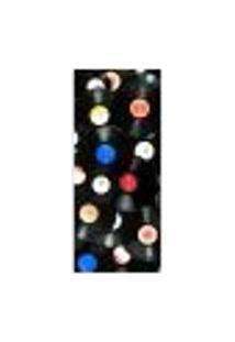 Adesivo Decorativo De Porta - Discos - 085Pt-P Auto Colante