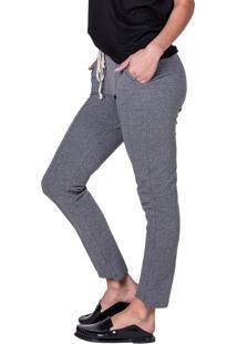 Calça Feminina Em Moletom Biamar Cinza Escuro - P
