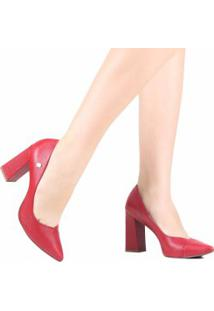 Sapato Loucos E Santos Scarpin Salto Grosso