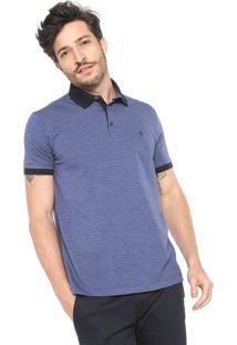 47691409256a4 ... Camisa Polo Dudalina Reta Padronagem Azul