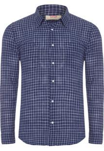 Camisa Masculina Rough Navy - Azul Marinho