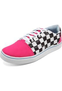 540c1fe1d7d5b R$ 59,99. Kanui Tênis Ride Skateboard Xadrez Race Rosa/Branco