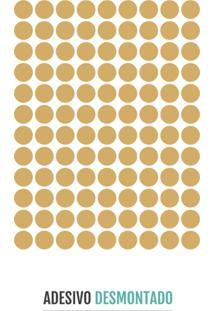 Adesivo Decohouse De Parede Polka Dourado
