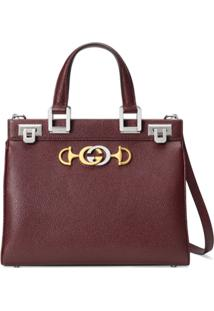 Gucci Gucci Zumi Grainy Leather Small Top Handle Bag - Vermelho