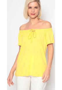 Blusa Ciganinha- Amarela- Vittrivittri