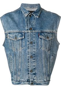 Not Guilty Homme Vintage Denim Vest - Azul