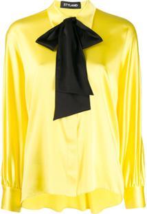 Styland Blusa Com Detalhe De Laço - Amarelo