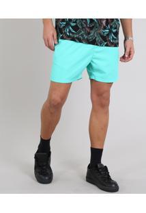 Short Masculino Com Bolso Verde Claro