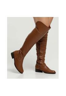 Bota Feminina Over The Knee Salto Grosso Via Uno