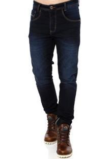 Calça Jeans Elétron Masculina - Masculino-Azul